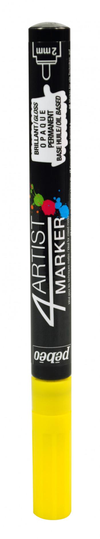 Художественный маркер 4ARTIST MARKER на масляной основе 2 мм Желтый