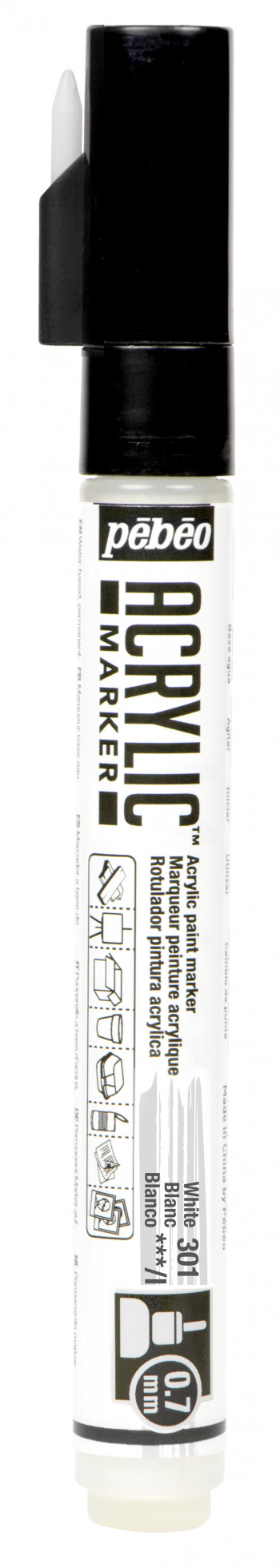 Маркер акриловый Acrylic Marker 0.7 мм круглый белый